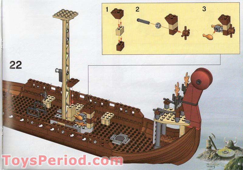 how to build a lego viking ship