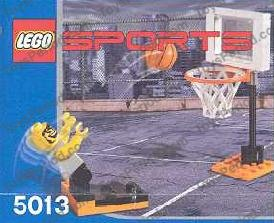 LEGO PART 43373 43374 SPORTS BASKETBALL HOOP AND NET WITH 2 STUDS AND AXLE