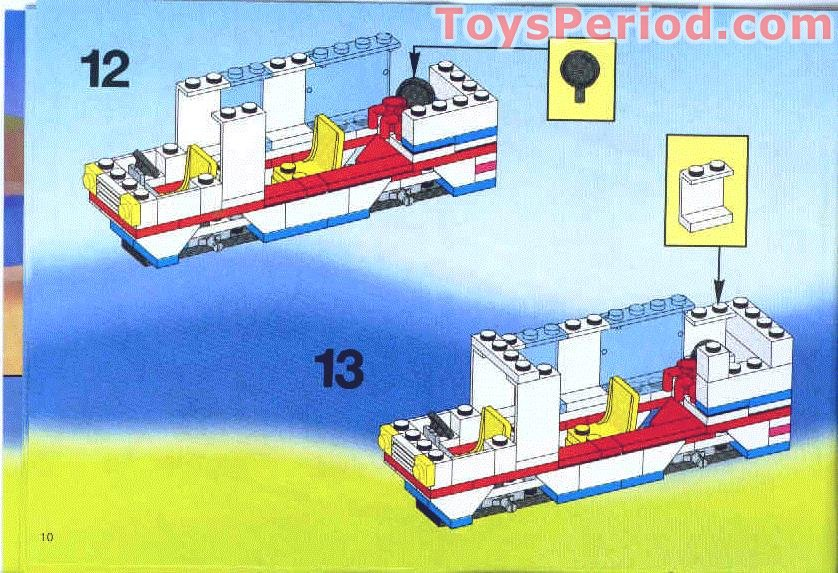 Lego 6351 Surf N Sail Camper Set Parts Inventory And