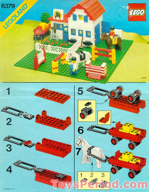 Lego 6379 Riding Stable Set Parts Inventory And Instructions Lego