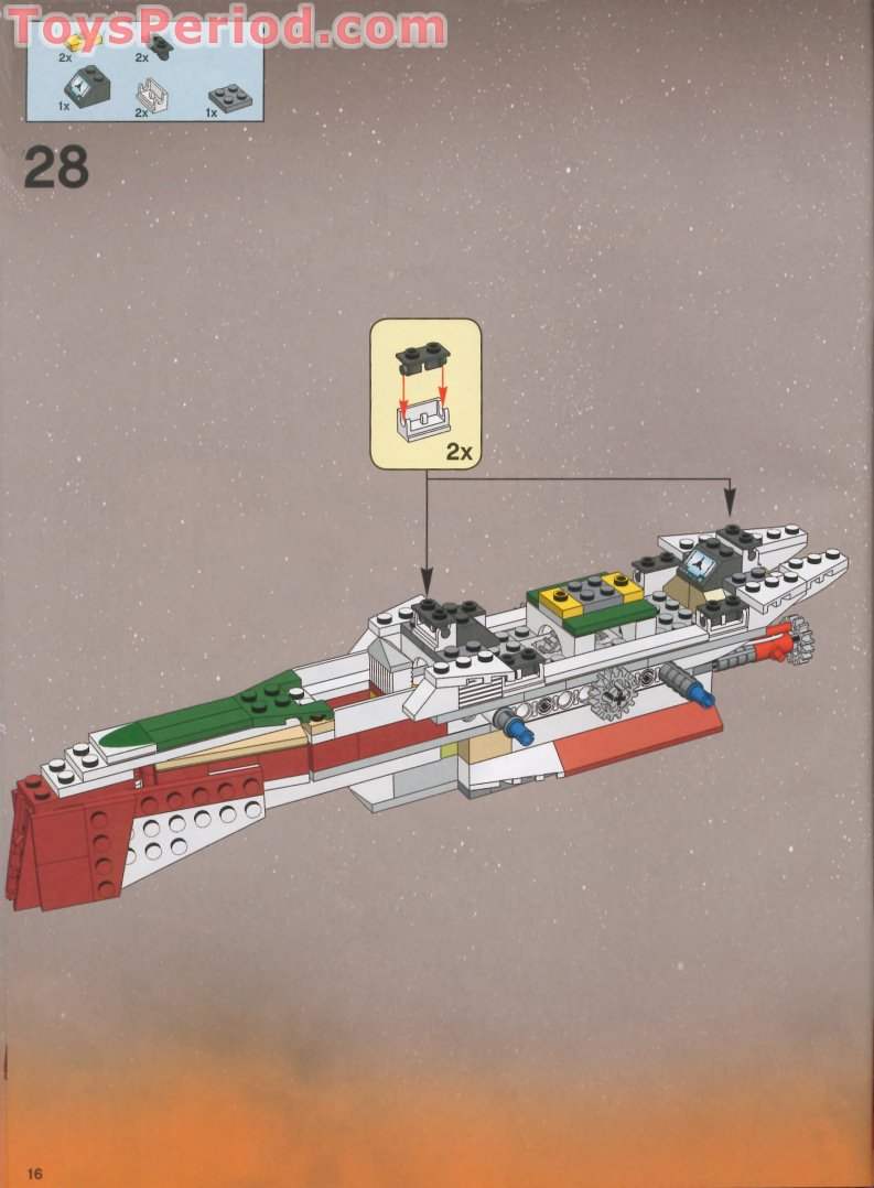 Lego 7259 Arc 170 Starfighter Set Parts Inventory And
