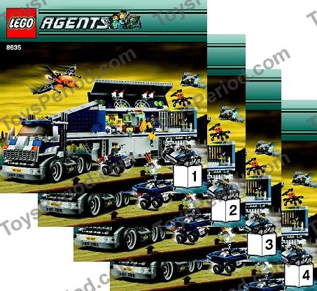 Lego 8635 Mission 6 Mobile Command Center Set Parts Inventory And