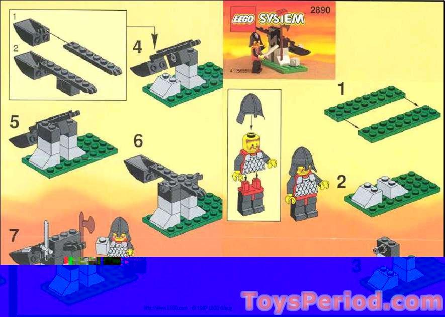 Lego 2890 Kabaya Promotional Set Kings Catapult Set Parts