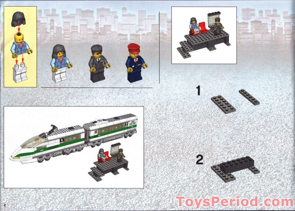Lego 4511 High Speed Train Set Parts Inventory And Instructions