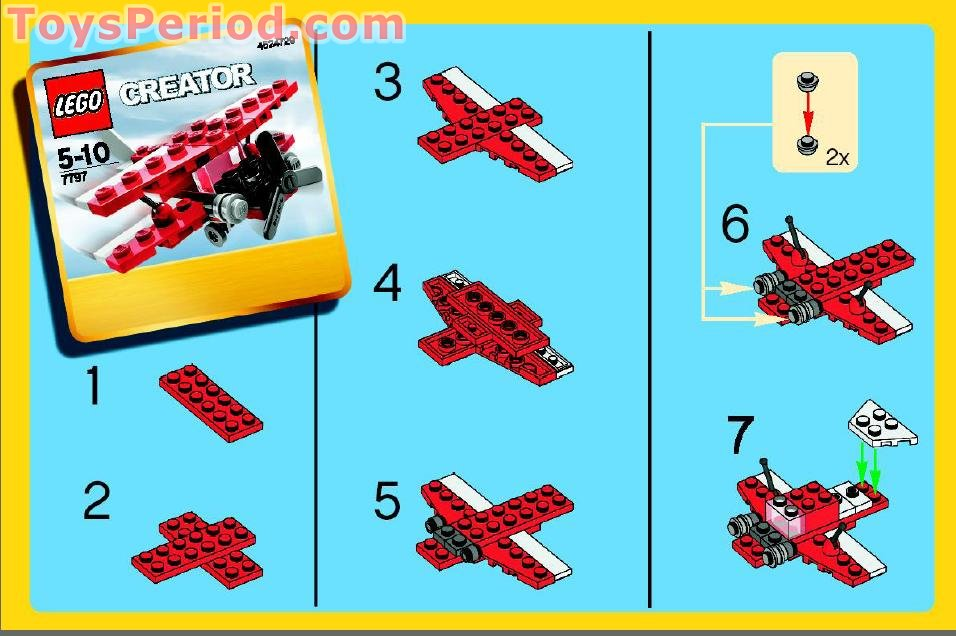 Lego 7797 Bi Plane Set Parts Inventory And Instructions Lego