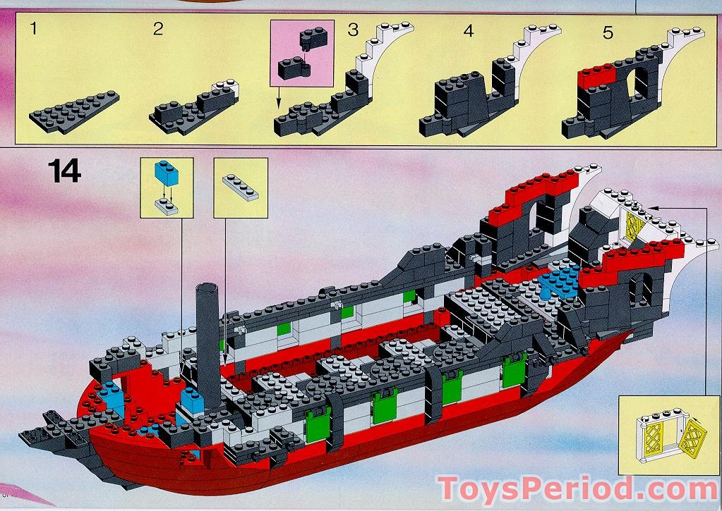 lego pirate ship instructions 6286