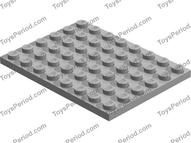 LEGO 6X8 TRANS YELLOW PLATE PLATE  CLASSIC SPACE 3036