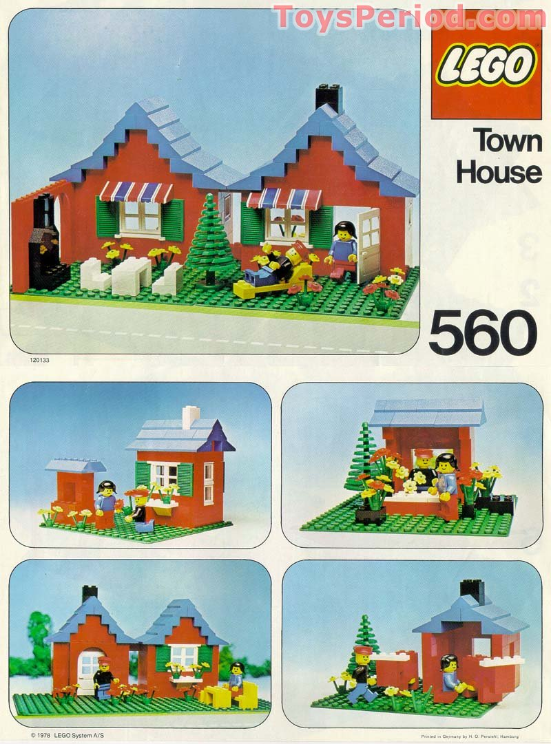 Lego 560 1 Town House With Garden Set Parts Inventory And 21006 Architecture The White Free Instruction Page