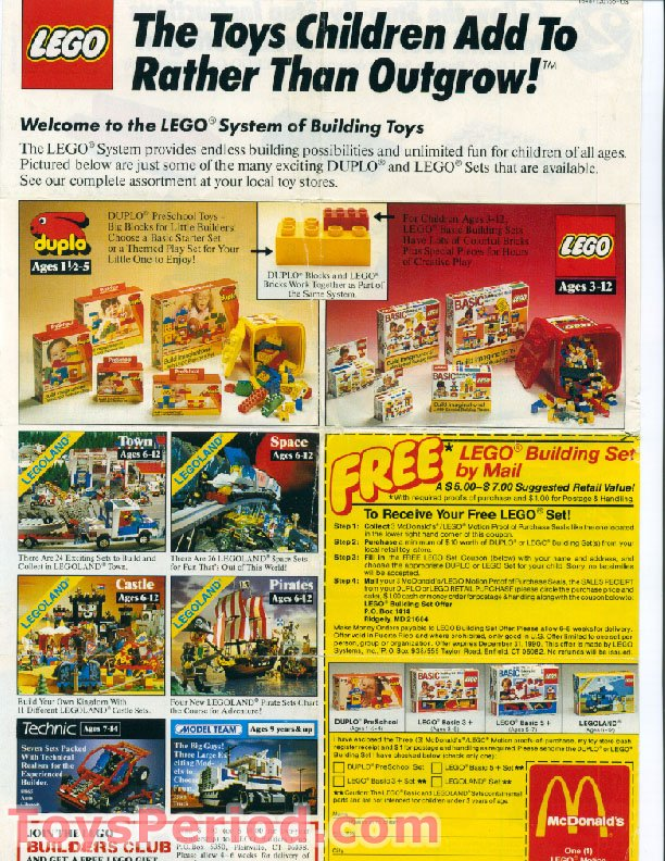 LEGO 1648 McDonald's Promotional Set, LEGO Motion 2A Swamp Stinger