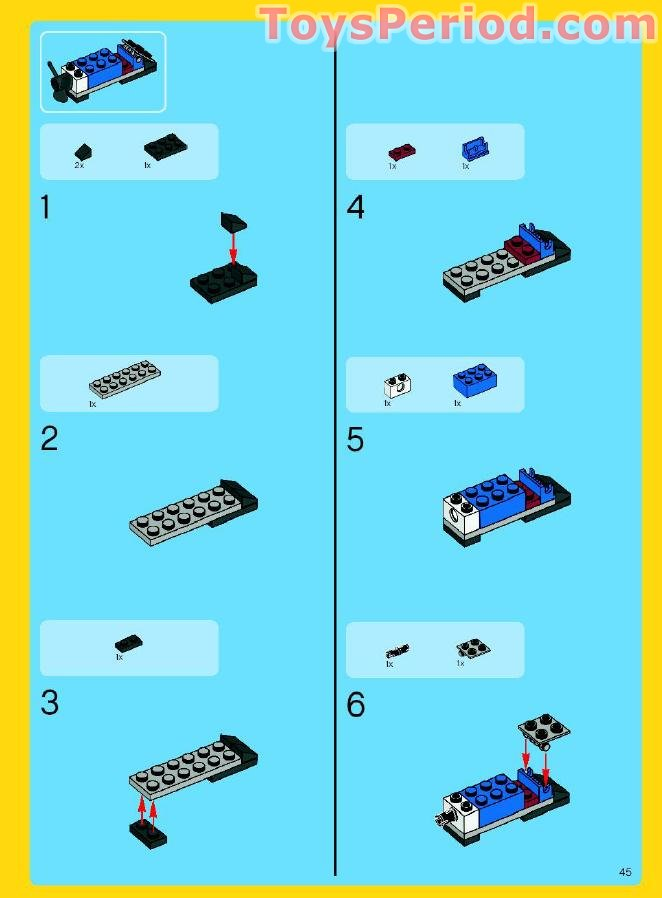 lego convertible car instructions