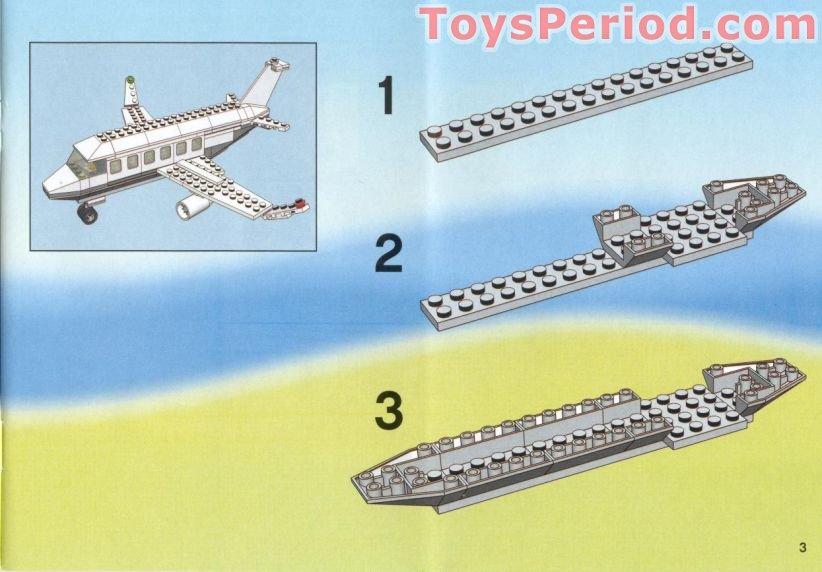 Lego 4032 2 Passenger Plane Sas Version Set Parts