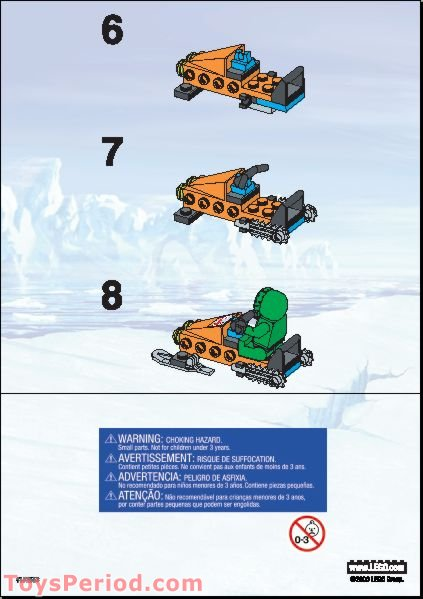 lego 66262 snowmobile set parts inventory and