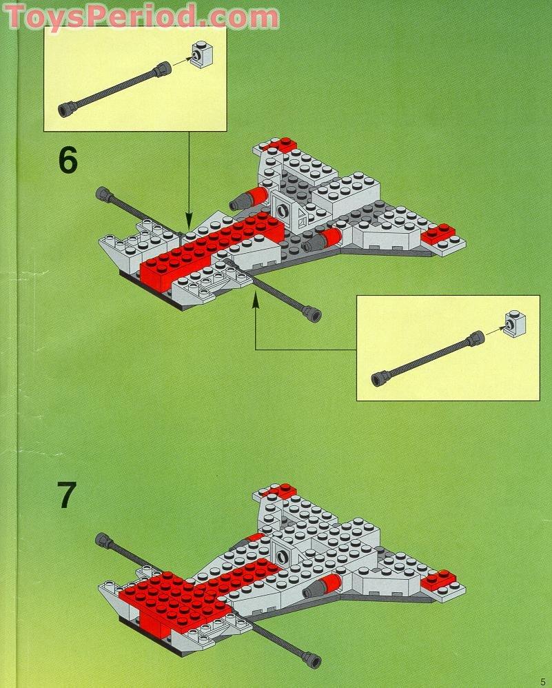 Warp wing fighter lego set #6915-1 (building sets > space > ufo).