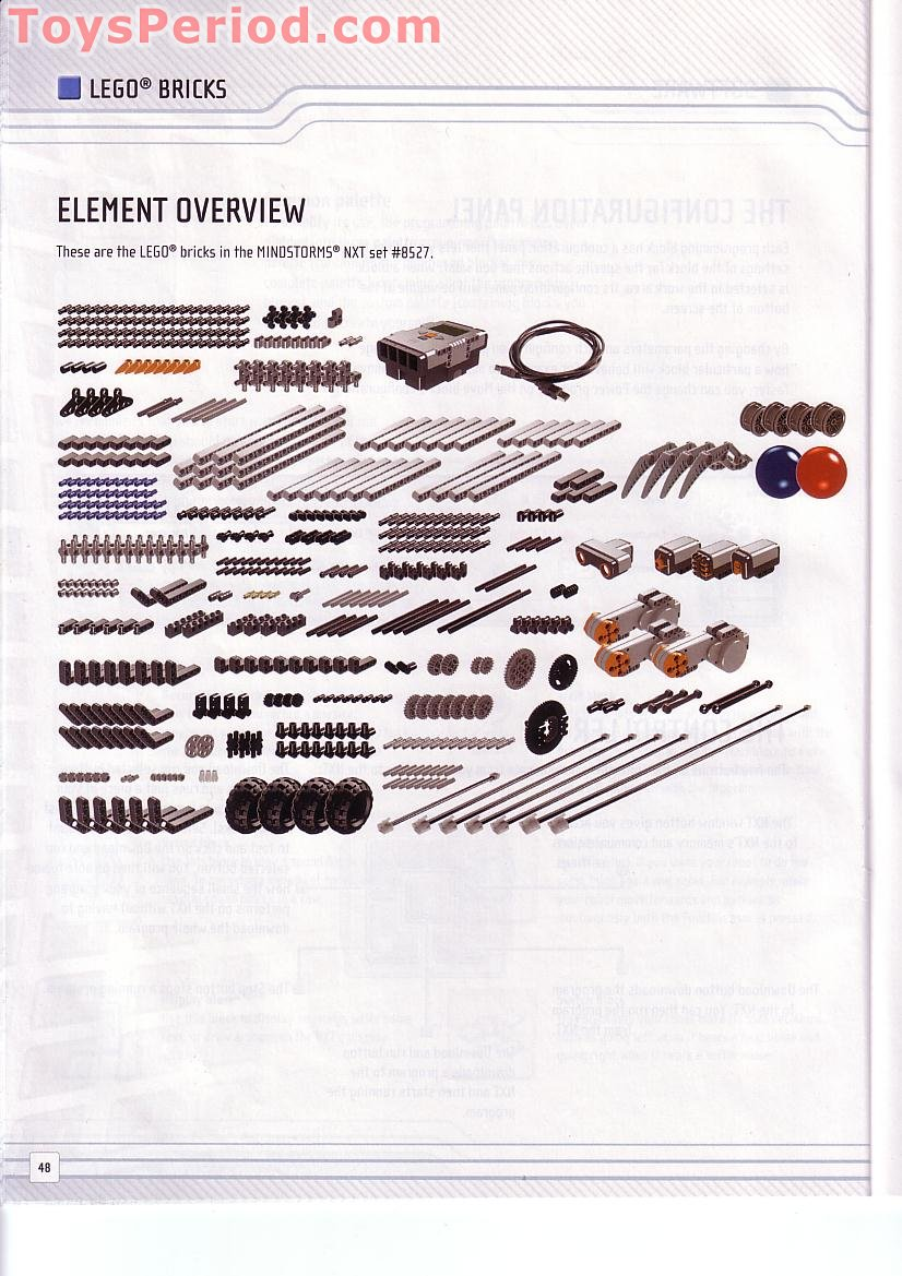 LEGO 8527 LEGO Mindstorms NXT Set Parts Inventory and