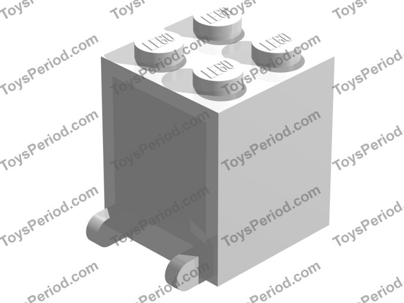 No 4346 Trans-Clear Container Box 2 x 2 x 2 Door QTY 5 LEGO Parts