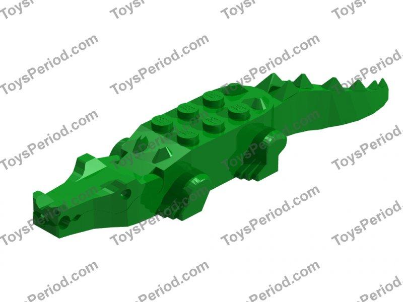 LEGO 6026c01 Alligator Crocodile with 8 Teeth Animal Water