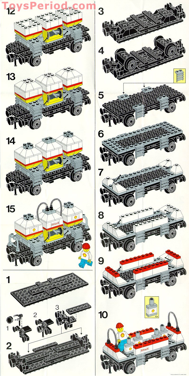 LEGO 7813 Shell Tanker Wagon Set Parts Inventory and ...