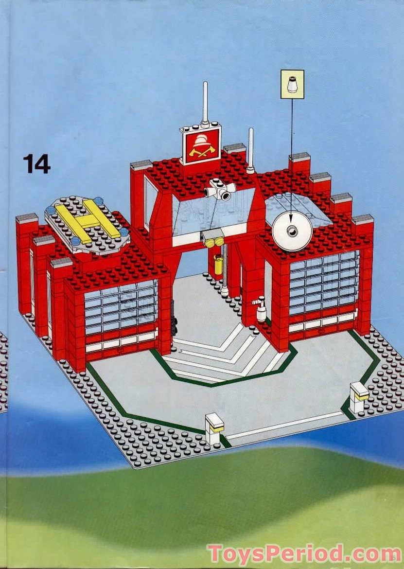 lego 6389 fire control center set parts inventory and instructions lego reference guide. Black Bedroom Furniture Sets. Home Design Ideas