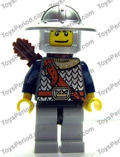 LEGO Genuine Castle Fantasy Era Crown Knight Plain W// Breastplate Minifigure