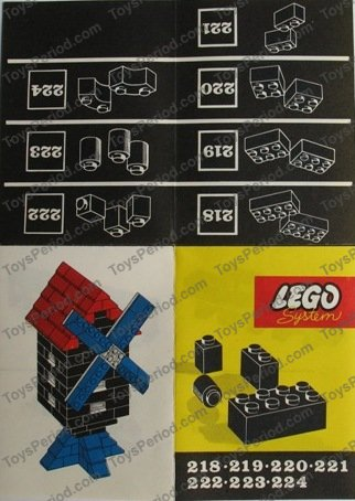 LEGO 221 1x2 Bricks Set Parts Inventory and Instructions