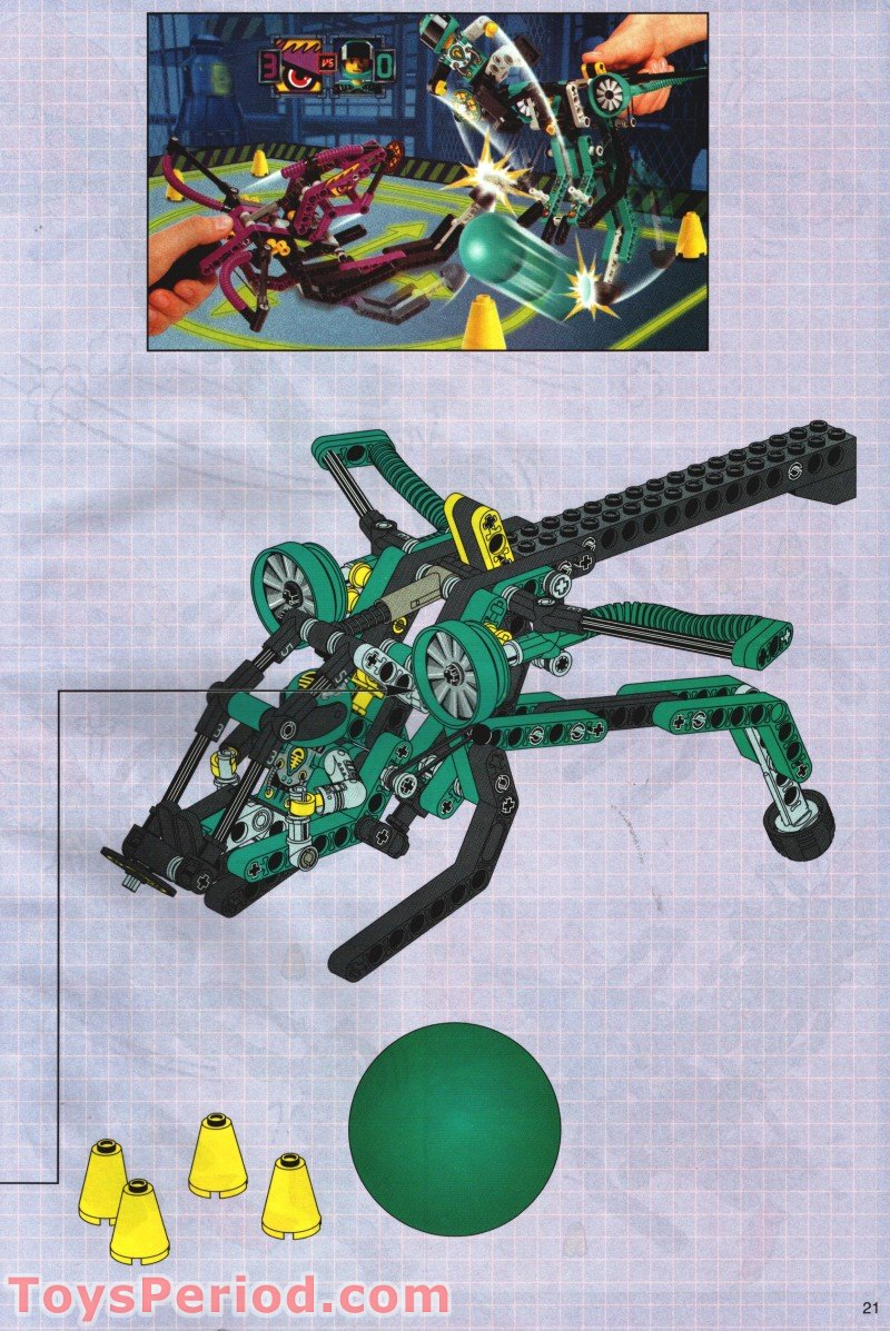 Lego 8269 Cyber Stinger Set Parts Inventory And