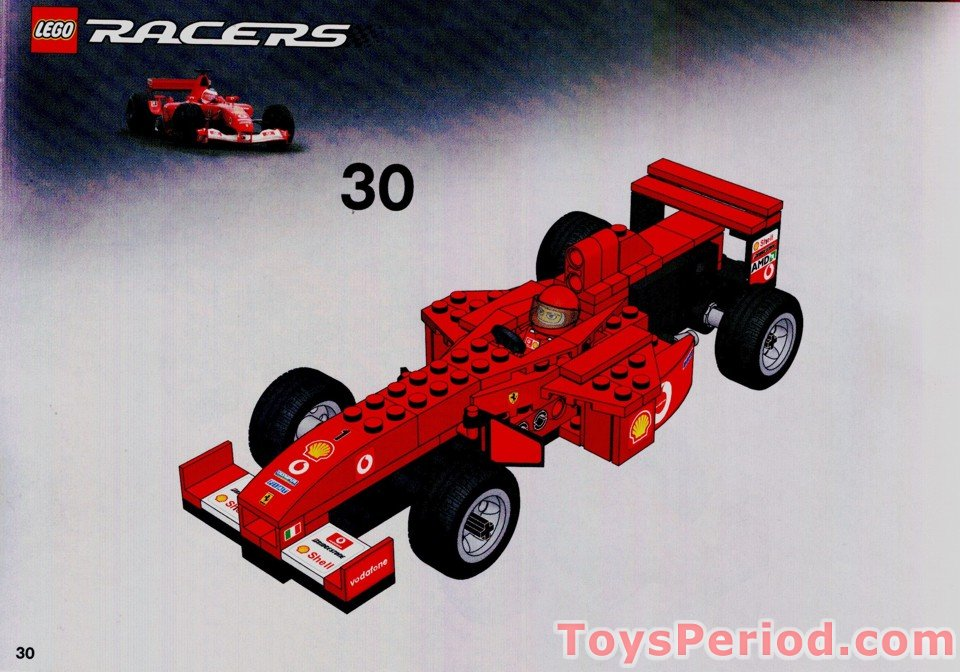 Lego 8362 Ferrari F1 Racer 124 Scale Set Parts Inventory And