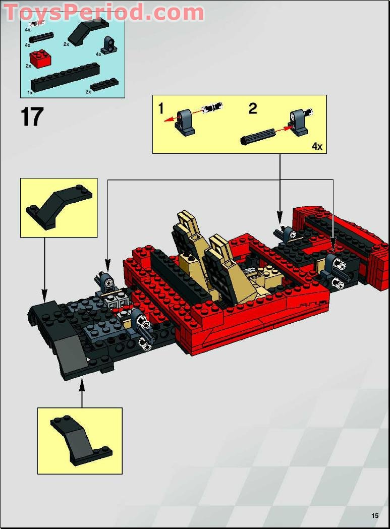 Lego 8671 Ferrari 430 Spider 1 17 Set Parts Inventory And