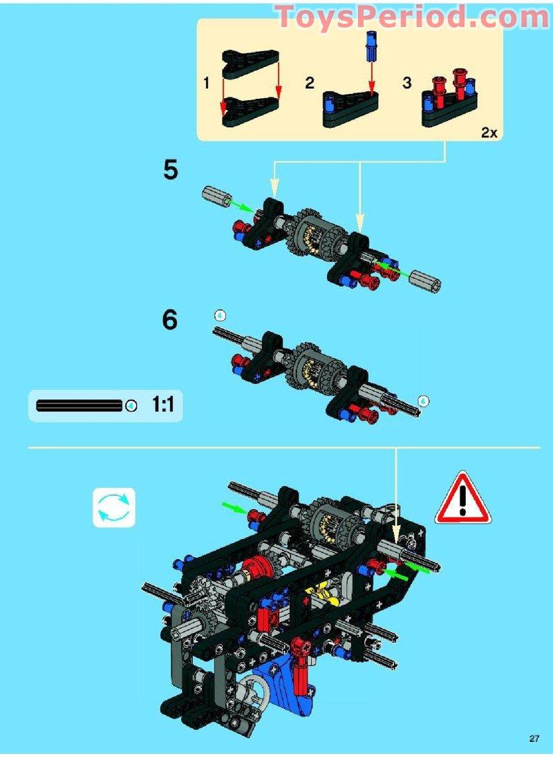 lego technic trailer building instructions