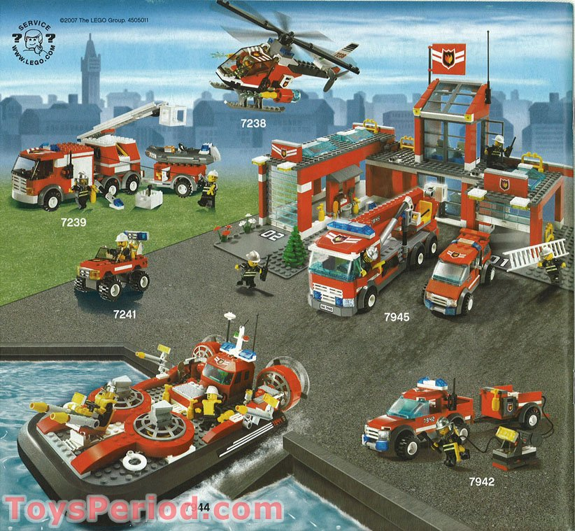 Lego 7944 Fire Hovercraft Set Parts Inventory And Instructions