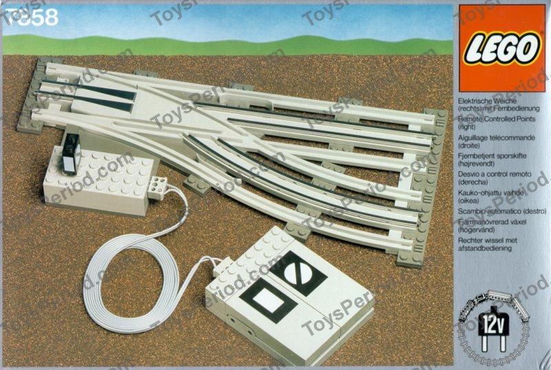 lego 7858 7859 classic Trains Remote Controlled Points 12v volt 2 complete sets