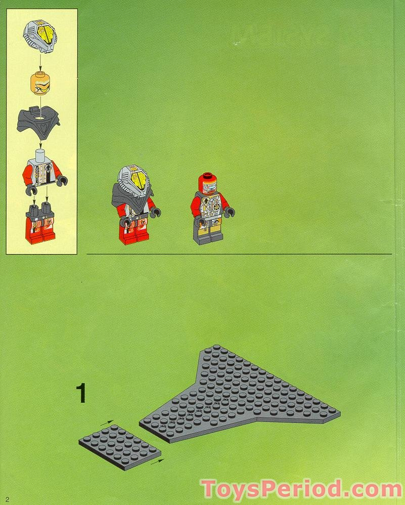 Lego space ufo warp wing fighter (6915) complete with instructions.