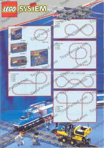 Lego 4519 Crossing Track Set Parts Inventory And