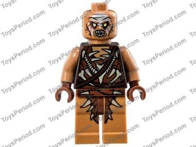 Hair Long Wavy w// Ragged Bottom Edge Thorin Minifig - Black LEGO
