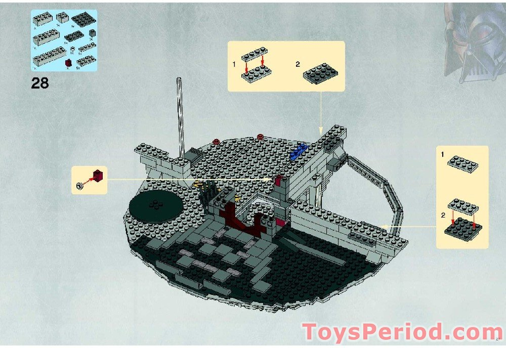 Lego 10188 Death Star Ultimate Collector Series Ucs Set Parts