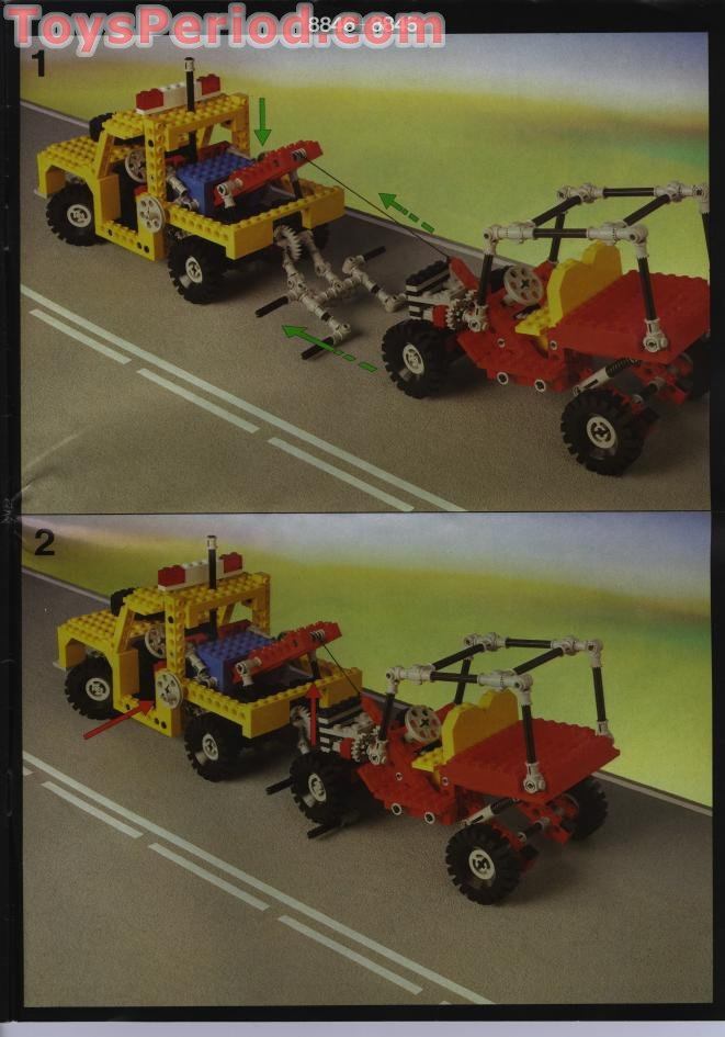 Lego 8846 Tow Truck Set Parts Inventory And Instructions Lego