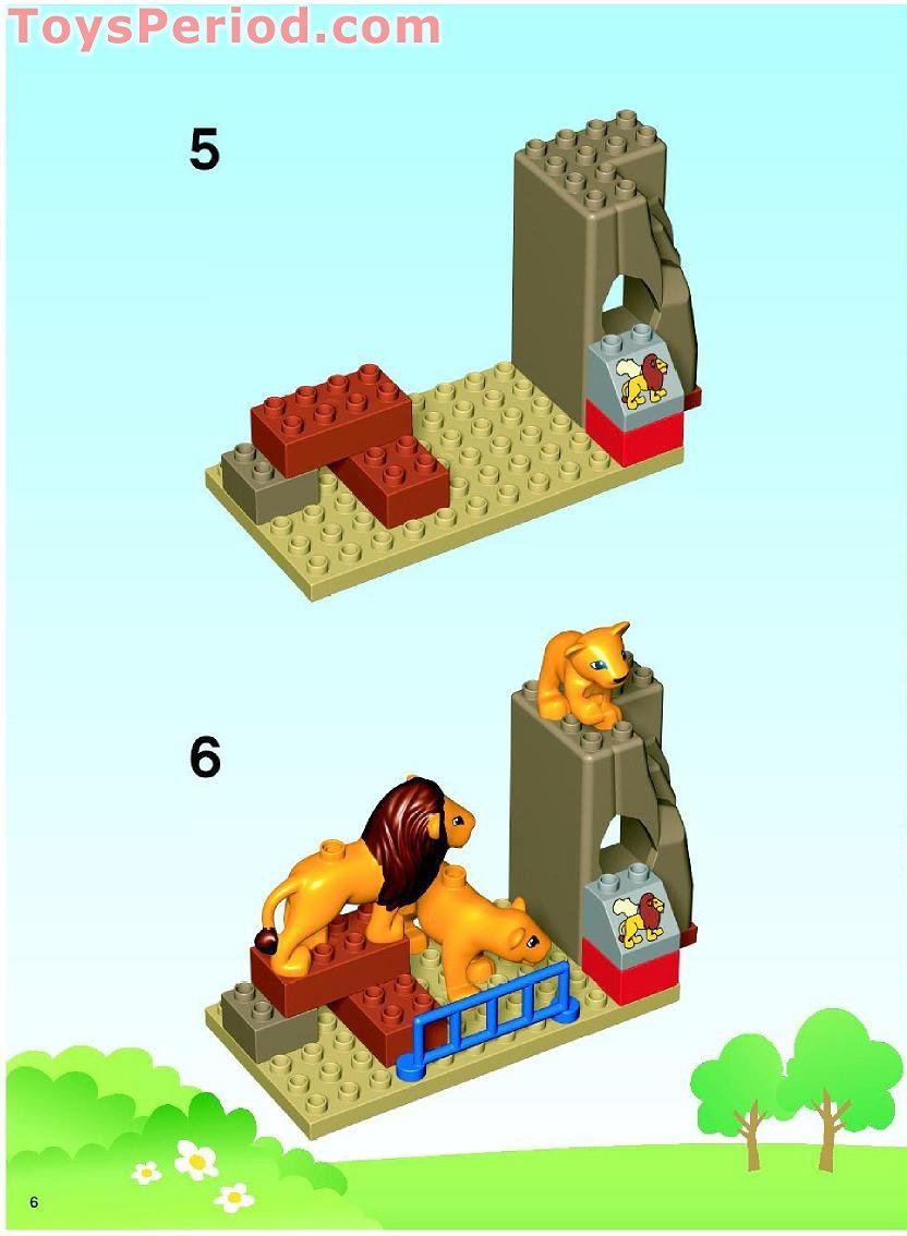 Lego 5634 Feeding Zoo Set Parts Inventory And Instructions