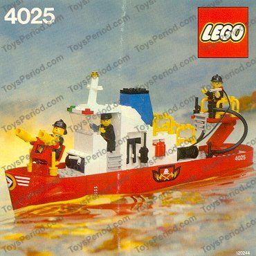 lego fire boat instructions