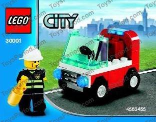 LEGO Complete Sets & Packs Lego City Fireman's Car 30001 Polybag BNIP LEGO Construction & Building Toys
