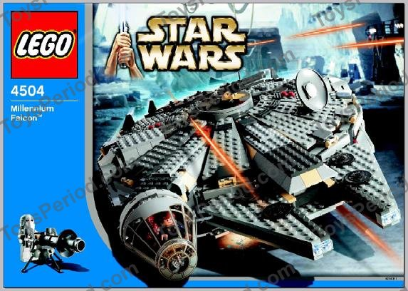 LEGO Star Wars RedBrown Plate with Pin ref 2476a Set  4504 Millennium Falcon