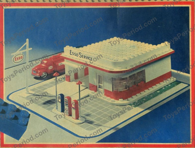 Lego 310 5 Esso Filling Station Set Parts Inventory And