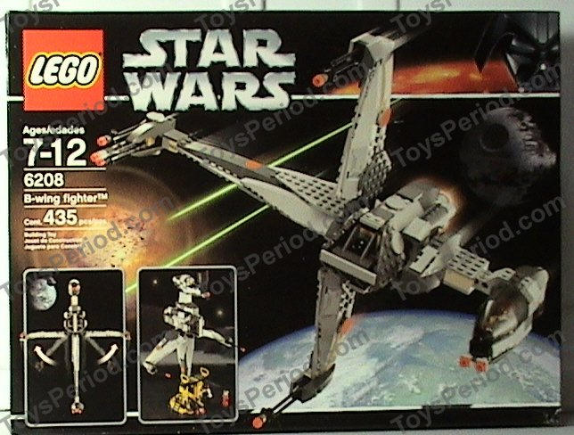 Lego 6208 B Wing Fighter Set Parts Inventory And Instructions Lego