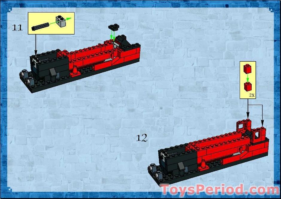 Ersatz Aufkleber//Sticker Set für LEGO 10132 4758 Hogwarts Express 2004