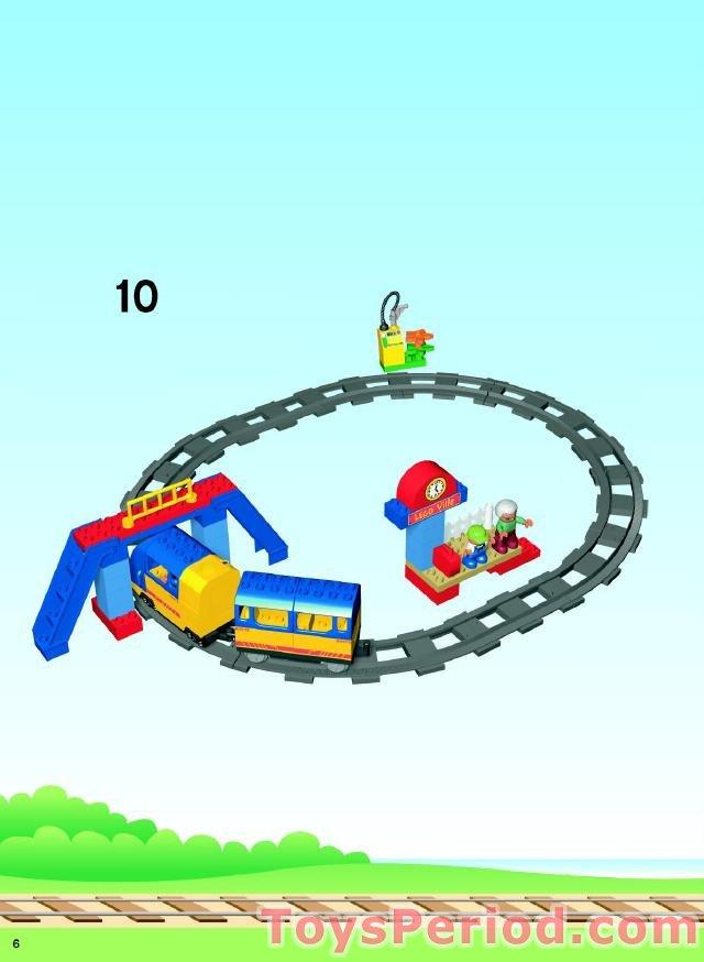 duplo number train set instructions