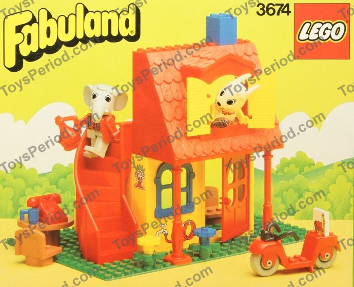 Lego 3674 Bonnie Bunnys New House Set Parts Inventory And