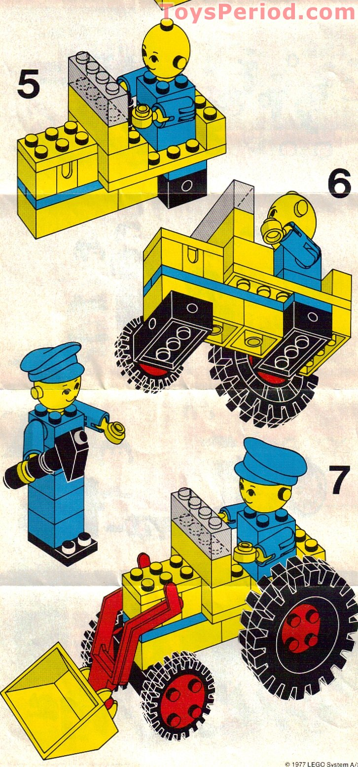 Lego 214 1 Lego Building Set With People Road Repair Set Parts