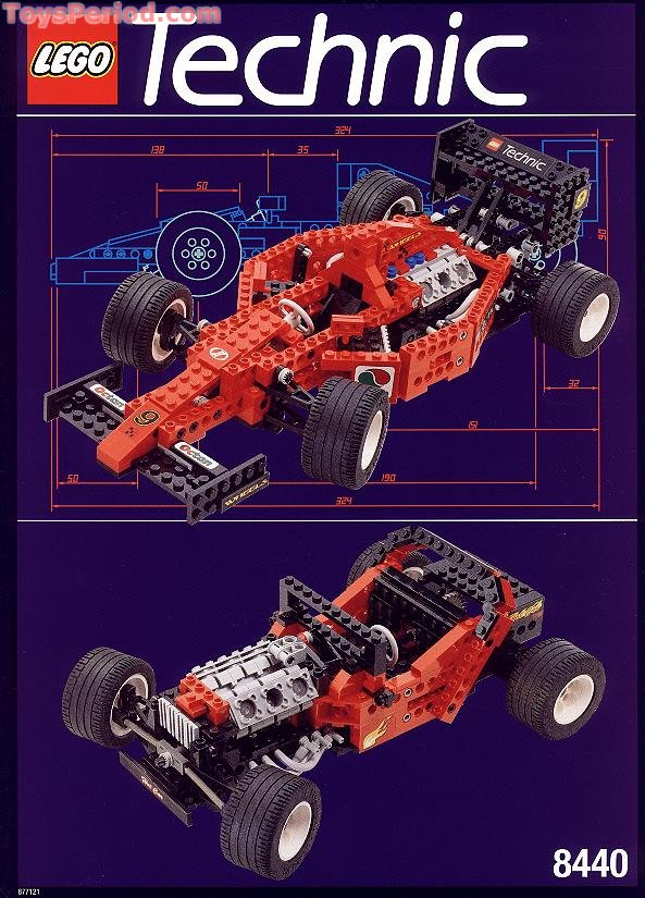 LEGO 8440 Formula Indy Racer Set Parts Inventory and Instructions