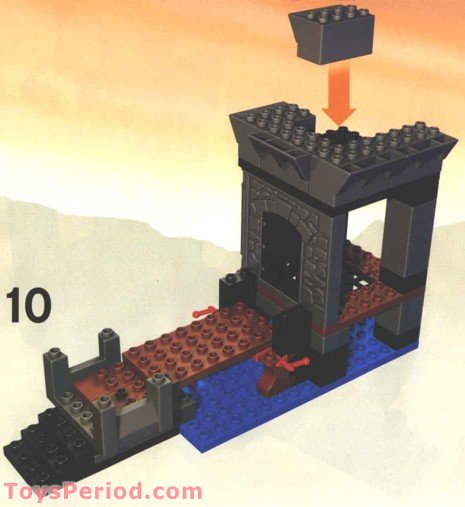 LEGO 4776 Dragon Tower Set Parts Inventory And
