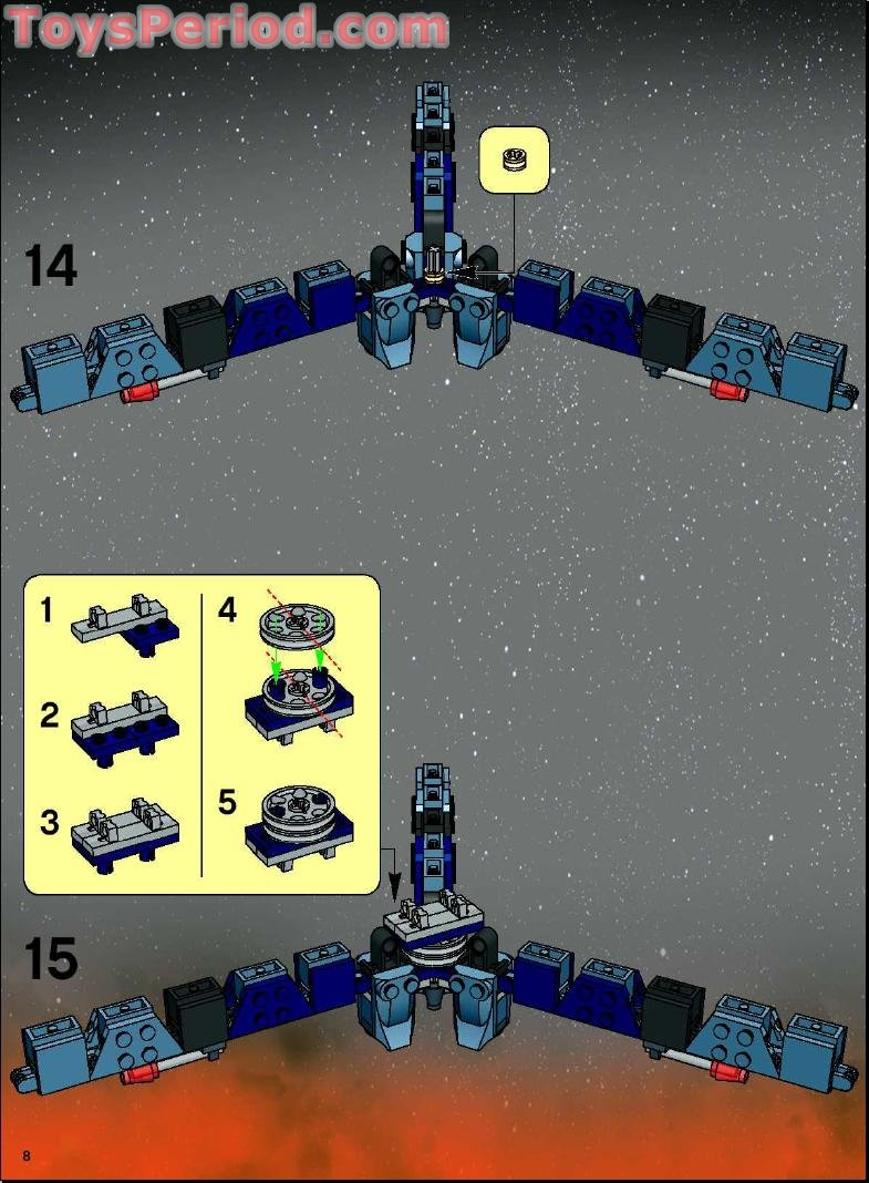 Lego 7283 Ultimate Space Battle Set Parts Inventory And