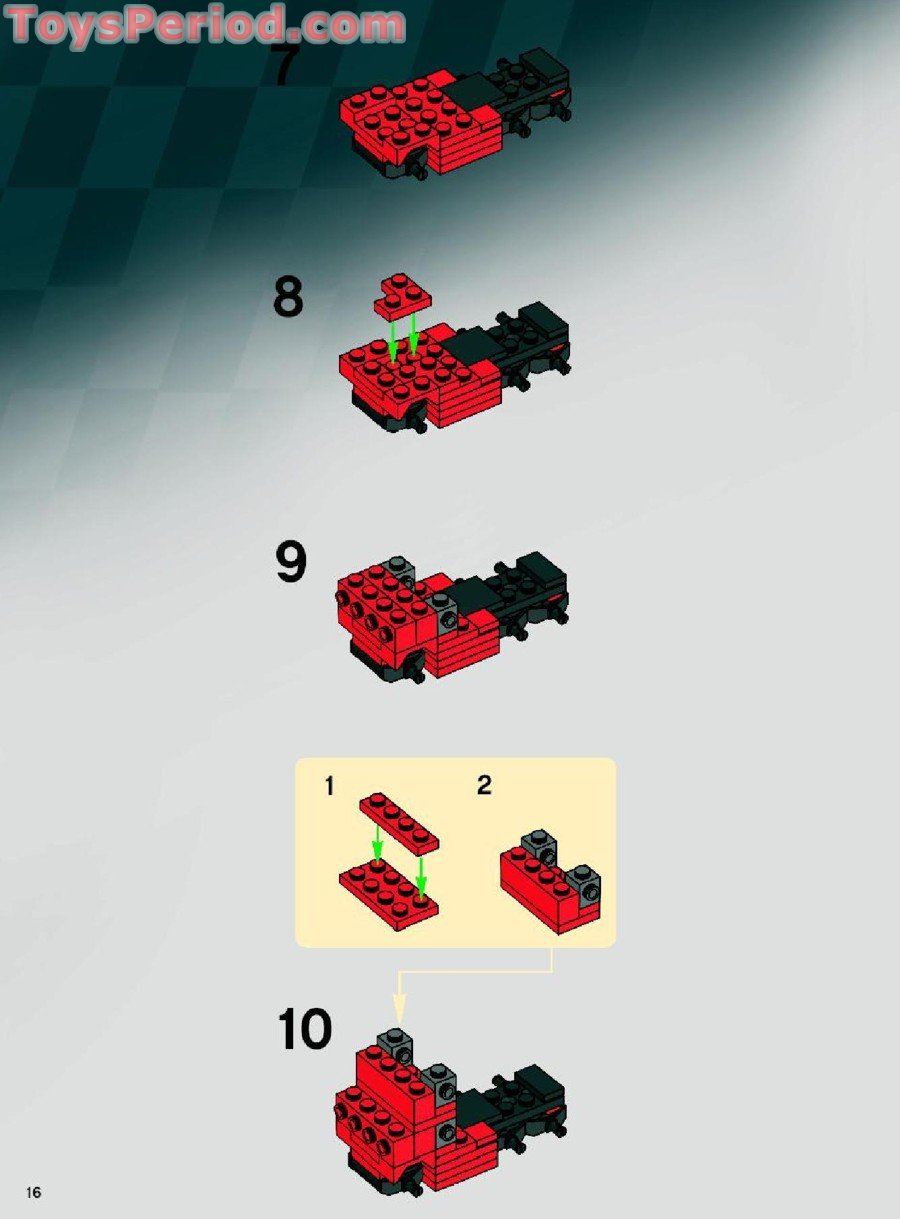 Lego 8155 Ferrari F1 Pit 1 55 Set Parts Inventory And