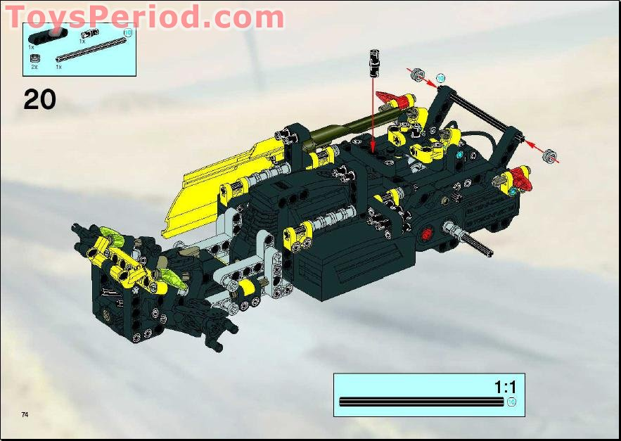 lego technic rc car instructions